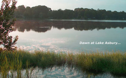 Dawn at Lake Asbury in Geen Cove Springs, FL - photo by Stibolt