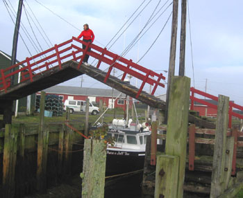 The world's smallest drawbridge in Sandford , NS