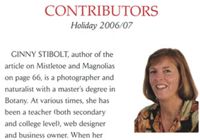 "Ginny Stibolt is a contributor to ""Tropical Home"""