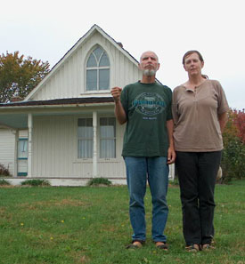 Our recreation of the American Gothic.  Photo by Stibolt